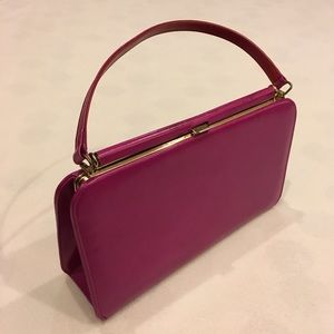 Vintage magenta purse with gold hardware